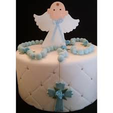 First Communion Cake Decorations Baptism Cake Angel With Rosary Cake Topper First Communion Cake