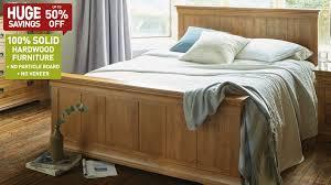 beds u0026 bed frames 100 solid hardwood oak furniture land