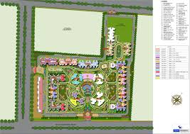 Podium Floor Plan by Ajnara Le Garden Noida Extension Ajnara Le Garden Noida