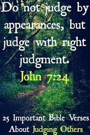 25 bible verses judging ideas judging