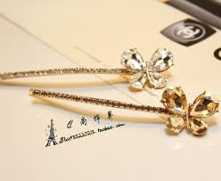 korean rhinestone barrette side folder bangs clip hairpin