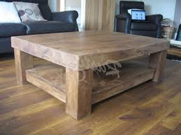 best wood for coffee table 20 best collection of chunky wood coffee tables