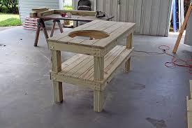diy grill table plans big green egg table by orlandomike lumberjocks com woodworking