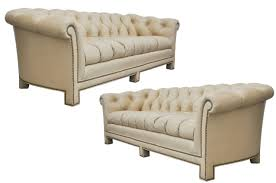 Chesterfields Sofas by Light Tan Leather Chesterfield Sofas By Hancock And Moore At 1stdibs