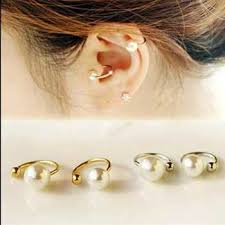 jual ear cuff jual anting mutiara pearl imitation clip ear cuff earring