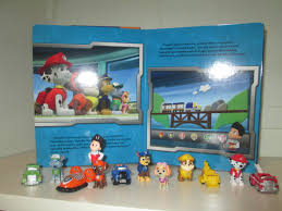 paw patrol book playset nickelodeon toy figures birthday