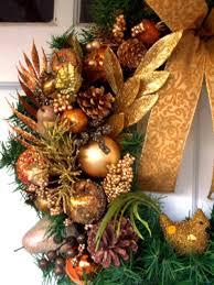 copper glitz christmas wreath hgtv
