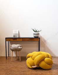 bright knotty cushions and stools for modern decor digsdigs