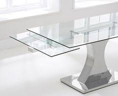 White Glass Extending Dining Table Sovet Italia Valencia Extralight Glass Dining Table 98 Inch