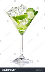 martini mint glass cocktail lime mint isolated on stock photo 94705711