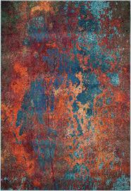 Rug Modern Furniture Wonderful Teal And Orange At Rug Studio Throughout