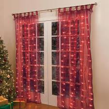 curtain lights decorate the house with beautiful curtains
