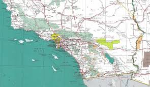 Dry Counties In Usa Map by Detailed Map Of Southern California California Map
