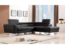 canapé d angle en cuir marron canapé d angle en cuir avec têtières réglables clelia