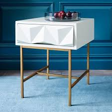 west elm white table sculpted geo side table west elm lei david project pinterest