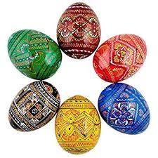 ukrainian egg 2 25 set of 6 geometric ukrainian pysanky wooden easter