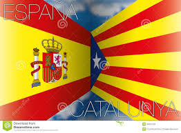 catalonia and spain flags stock illustration image 46778331