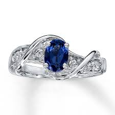 silver sapphire rings images Kay lab created sapphire ring oval cut sterling silver jpg