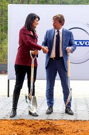 volvo breaks ground on first u s plant in south carolina will