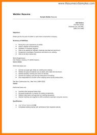 exle of simple resume welder resume sle 9 welding exles fresh so cover letter exles
