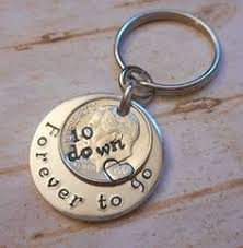 10th anniversary gift ideas for him aluminum tag keychain sted with i still do happy 10th