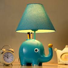 chic painting kids table lamps fabric shade in e27 lamp base