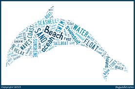 beach dolphin summer word art the love nerds