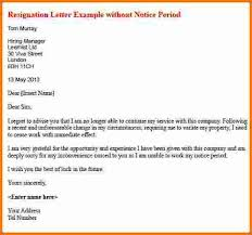 7 formal resignation letter sample with notice period