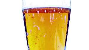 sodium in light beer reacting of a liquid containing sodium bicarbonate with acid stock