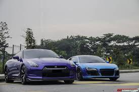 Audi R8 Upgrades - gallery chrome blue audi r8 and nissan gt r gtspirit