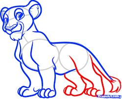 draw nala lion king step step disney