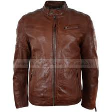 real leather motorcycle jackets mens tailored fitted motorcycle jacket brown leather biker jacket
