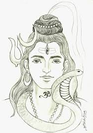 shiva sketch drawing images how to draw lord shiva stepstep