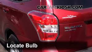 subaru forester tail light bulb brake light change 2014 2016 subaru forester 2014 subaru forester