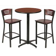 Break Room Table And Chairs by All Arched Base Bar Height Cafe Table With Two Br3315b Barstools