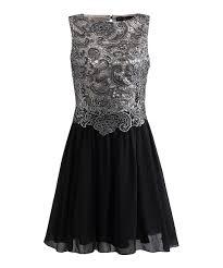 black dress company look at this zulilyfind black silver ella dress by london