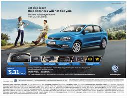 volkswagen ameo price volkswagen ameo ad let dad know you are prepared for a rainy