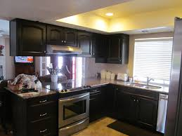 modern cheap home interior remodel black kitchen cabinet design