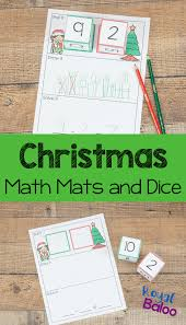 christmas math mats for hands on subtraction and addition royal