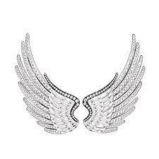 Angel Wing Wall Decor Amazon Com Benzara Acrylic Angel Wings Wall Decor Set Of 2 Décor