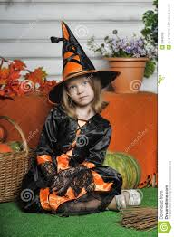 portrait of in witch costume royalty free stock photo image