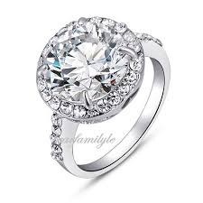 rings crystal swarovski images Big cz swarovski crystal 18k white gold gp engagement ring r571 ebay jpg