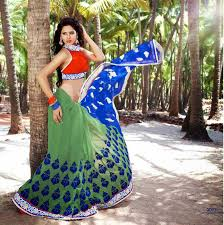 pista green color pista green u0026 royal blue color saree