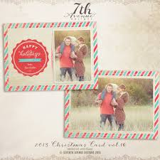 2014 christmas card templates vol 8 7x5 inch card template