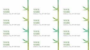 return address label example microsoft word templates