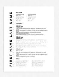 Resume Template Business Conservative Professional Business Resume Template U2013 Original