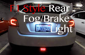 sti subaru 2016 white f1 style rear fog brake light 2015 wrx sti youtube