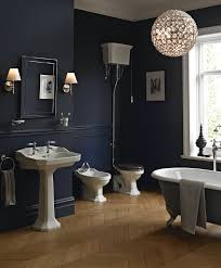 wondrous interior bathroom design ideas with cool black wall color
