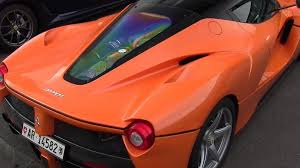 orange ferrari orange laferrari spotted at spa along with fxx k owned by google
