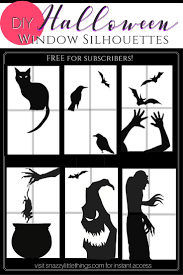 scary halloween cutouts best 25 halloween window silhouettes ideas only on pinterest